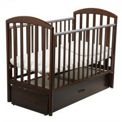 Детская кроватка для новорожденного-продольный маятник Papaloni Винни 120x60 см (Папалони)