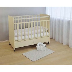 Кроватка для новорожденного детская колёсики, ящик СКВ-4