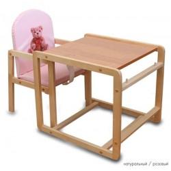 Детский стульчик трансформер Папа Карло Мишки