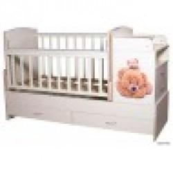 Детская кроватка трансформер Папа Карло КТП Мишки люкс